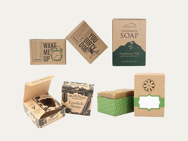 Custom Kraft Soap Boxes Custom Printed Kraft Soap