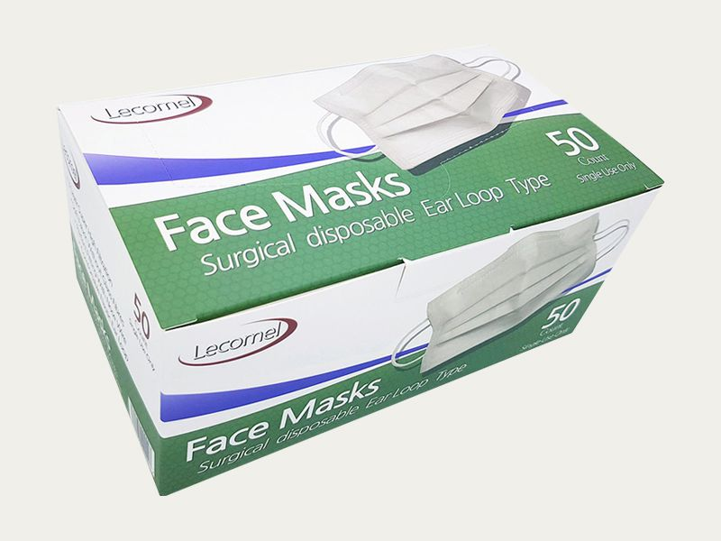 Mask Face Sugical Custom Printed Boxes